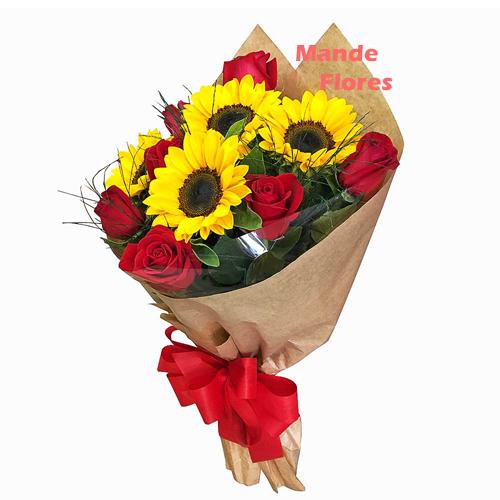 4305 Rosas Com Girassol.