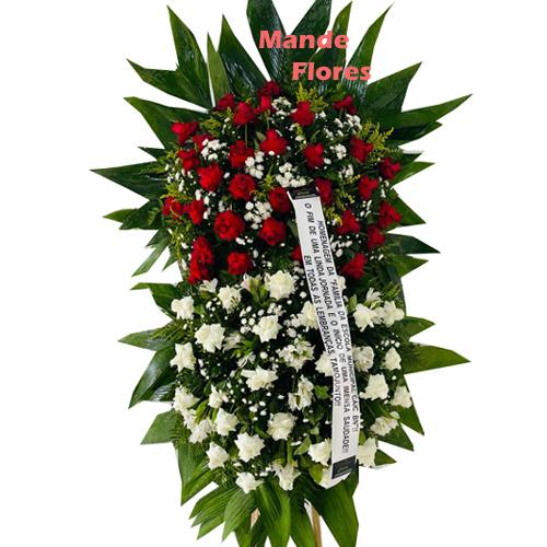 4321 Coroa Pra Velório Flores Vermelhas .