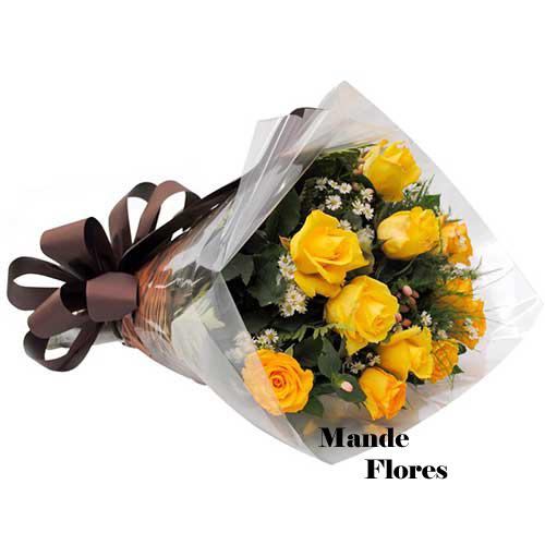 4921 Buquê De Rosas Amarelas