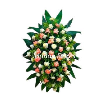 5053 Coroa Para Velório Com Rosas.