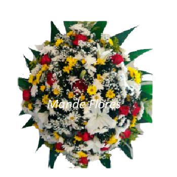 5054 Coroa De Flores Pra Velório Colorida