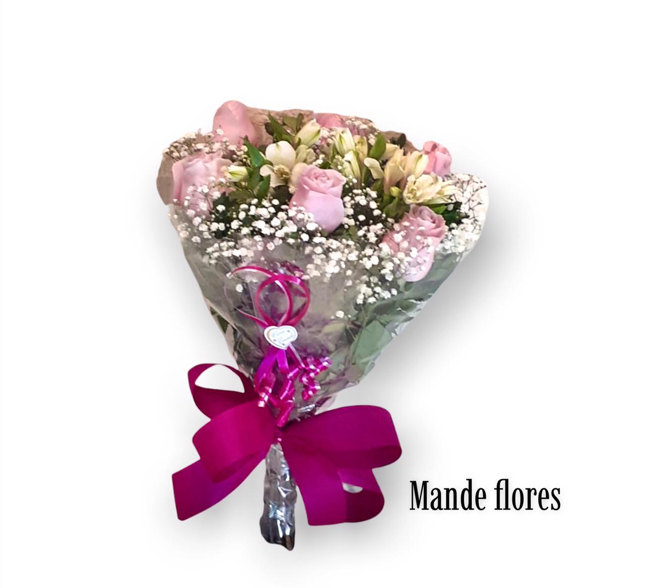 5562 Rosas Com Austromelias